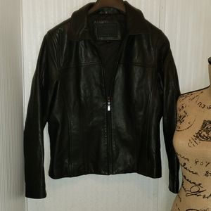Avanti Women's Leather Jacket Black Size L